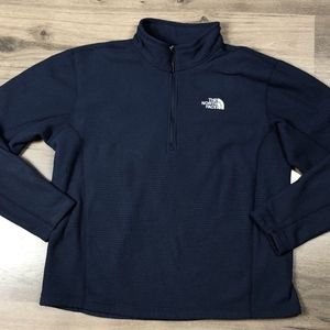 The North Face Mens Fleece 1/4 Zip Ribbed Pullover